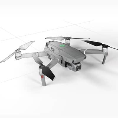 Drohnenansicht CAD Datei