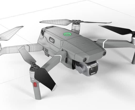 CGI Ansicht von Drohne
